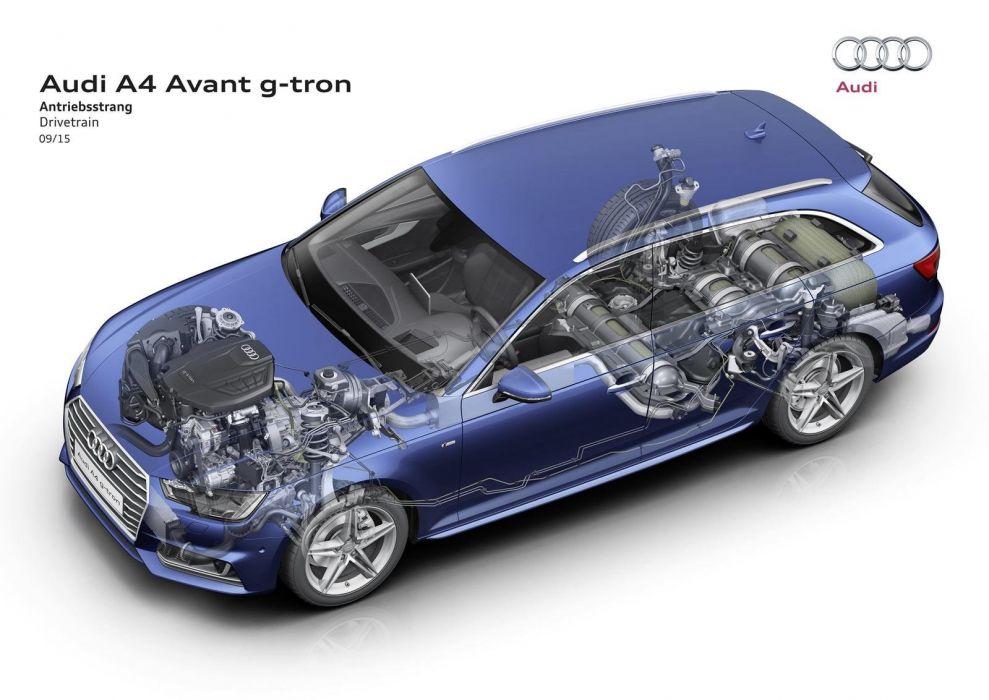 A4-audi Avant wagon g-tron cars 2015 cutaway wallpaper