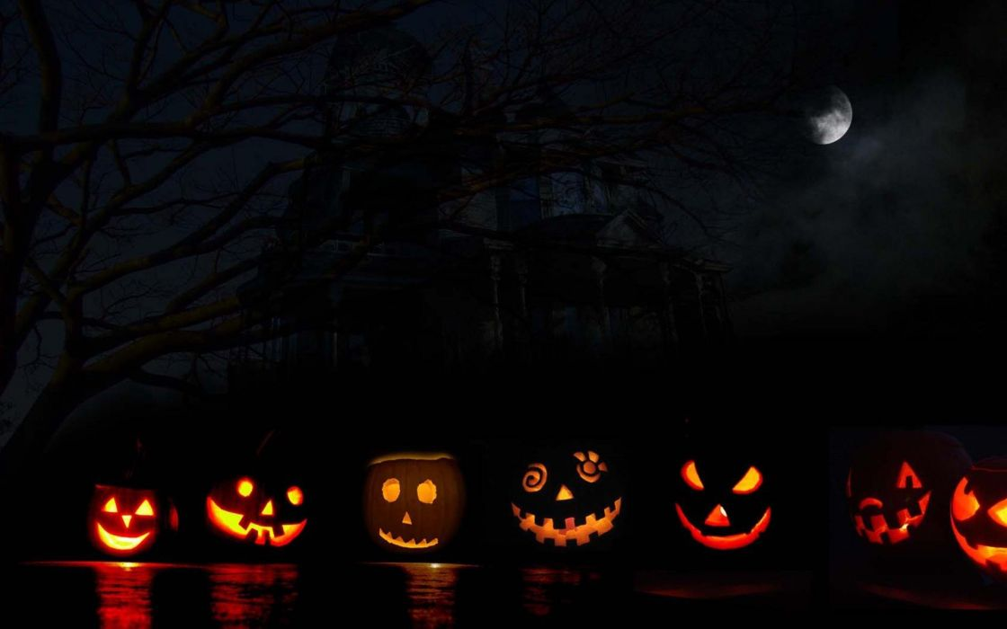 HALLOWEEN spooky holiday creepy dark horror wallpaper