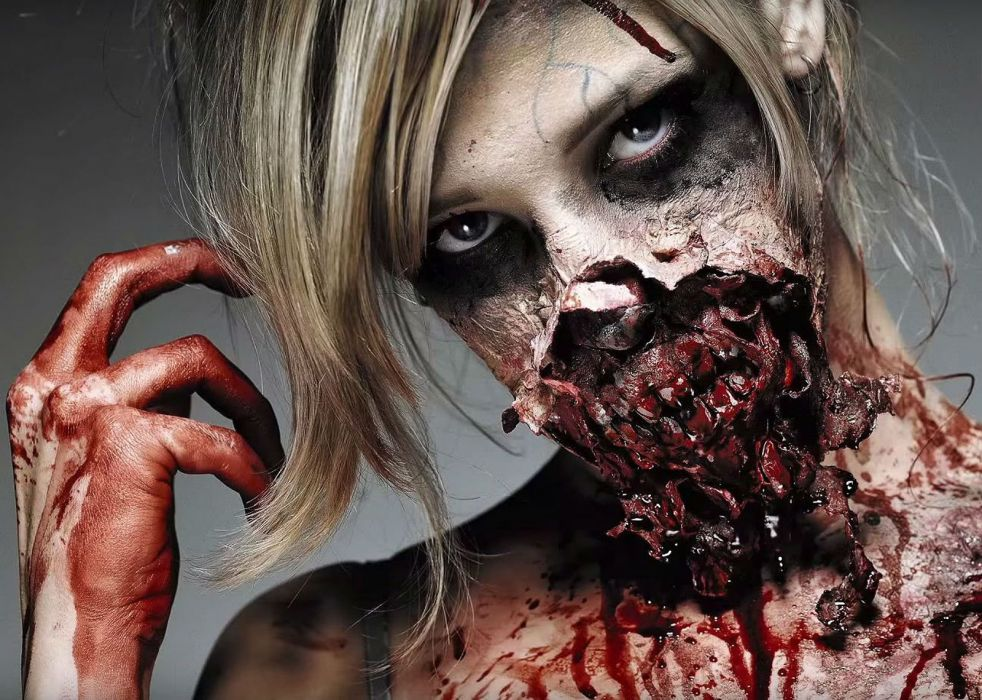 HALLOWEEN spooky holiday creepy dark horror blood wallpaper