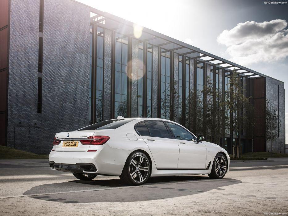 BMW 7-Series UK-Version cars sedan white 2016 wallpaper