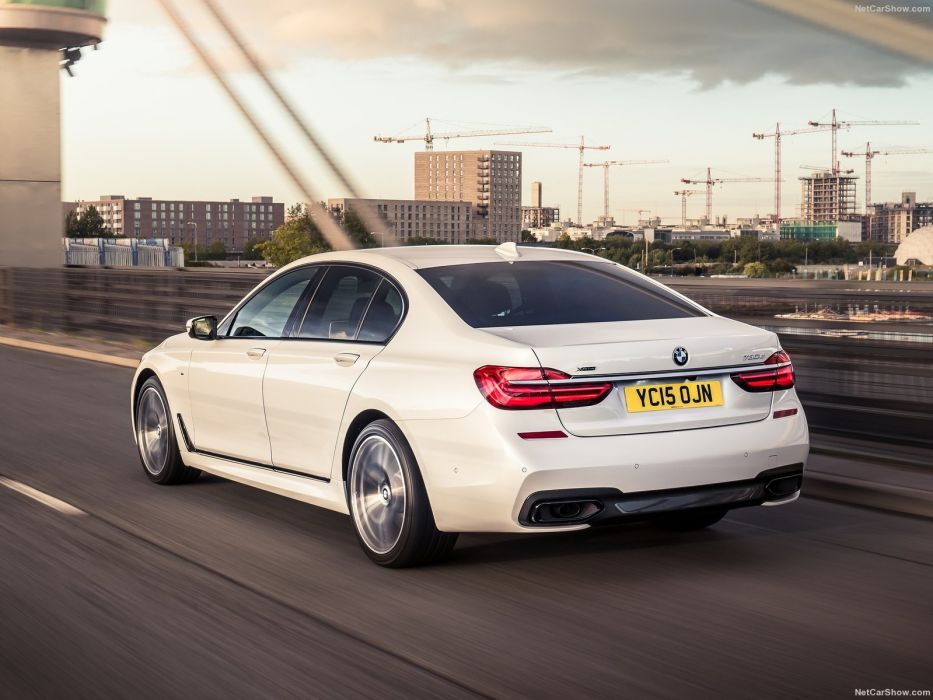 BMW 7-Series UK-Version cars sedan white 2016 wallpaper