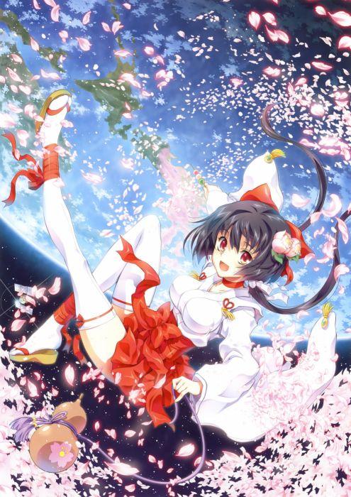 original anime girl kimono cute beautiful dress long hair wallpaper