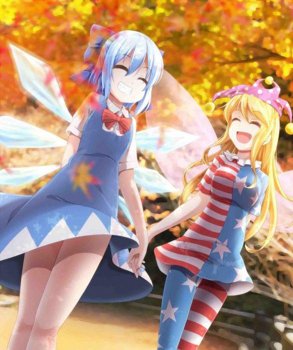 original anime girl smile cute beautiful dress long hair wallpaper