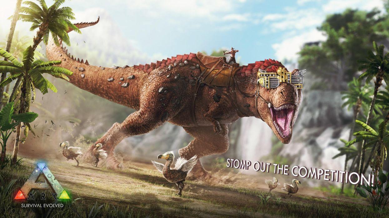 ARK survival evolved dinosaur exploration adventure monster creature 1asev action fighting wallpaper