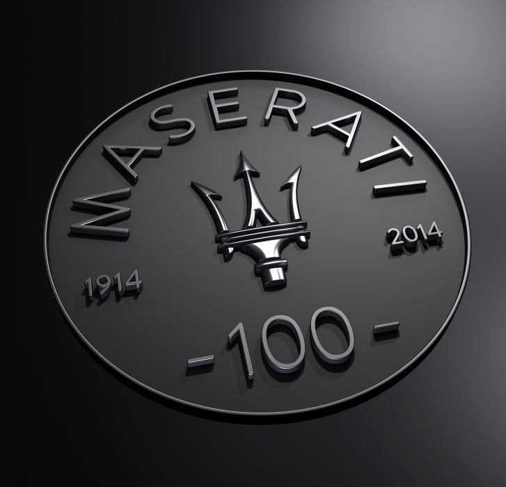 Maserati Centennial Logo wallpaper