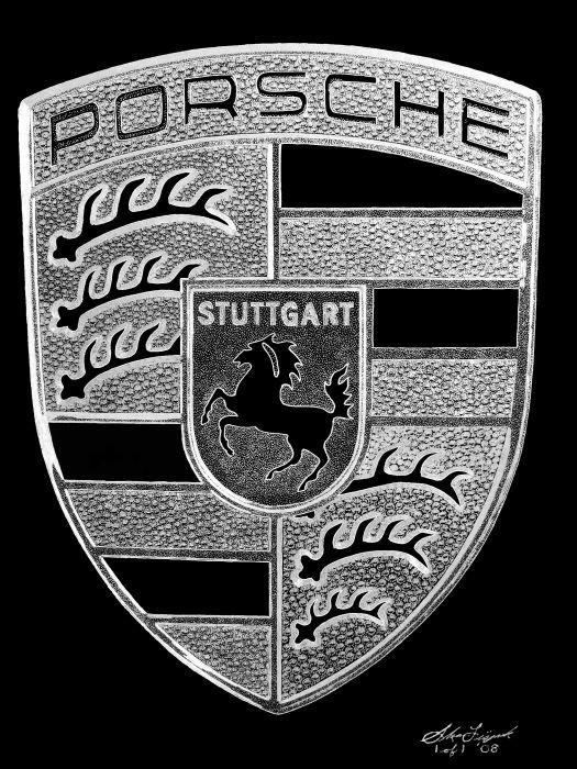 Porsche Crest Logo wallpaper