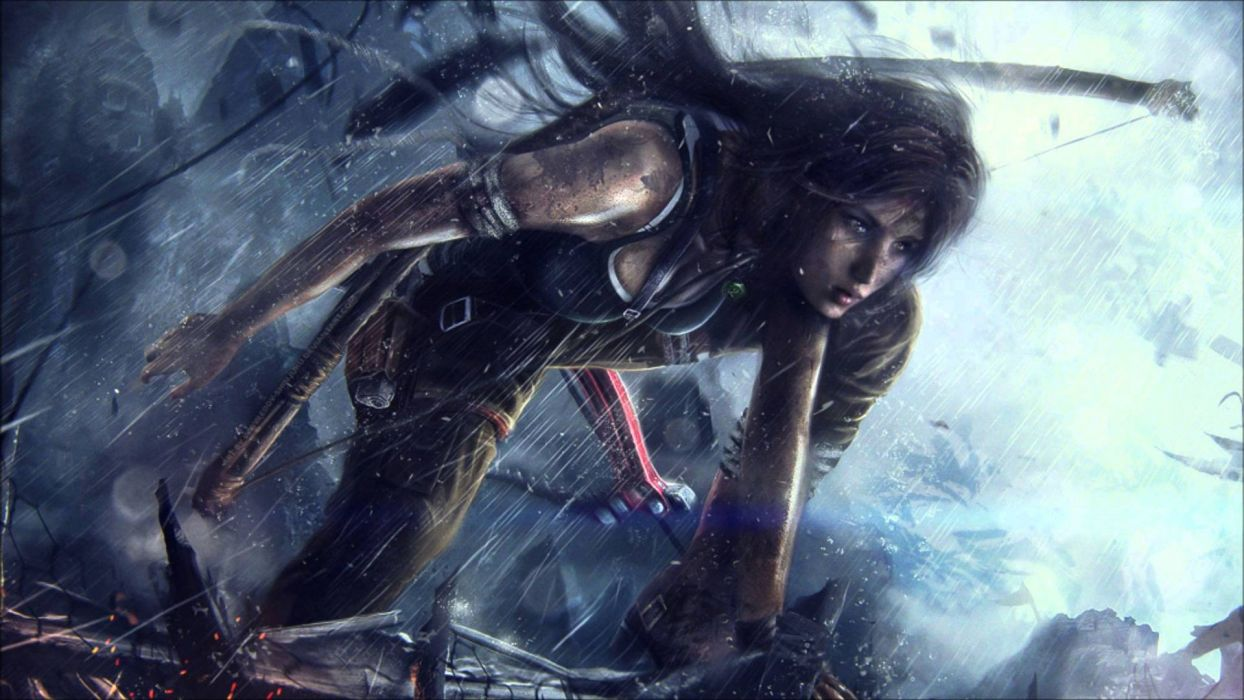 RISE TOMB RAIDER Lara Croft Action Adventure Fantasy Warrior Wallpaper