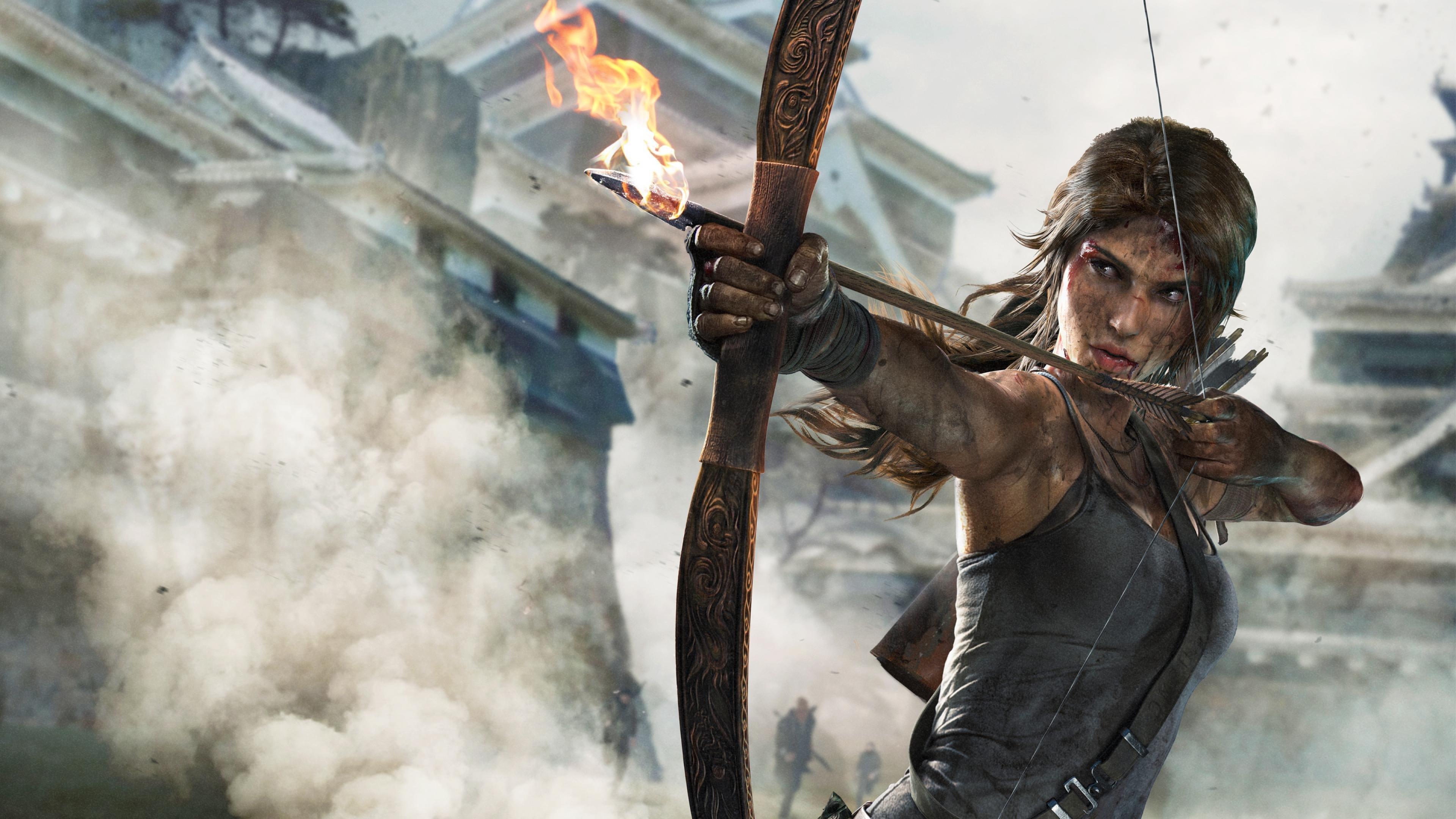 RISE TOMB RAIDER Lara Croft Action Adventure Fantasy Warrior Wallpaper