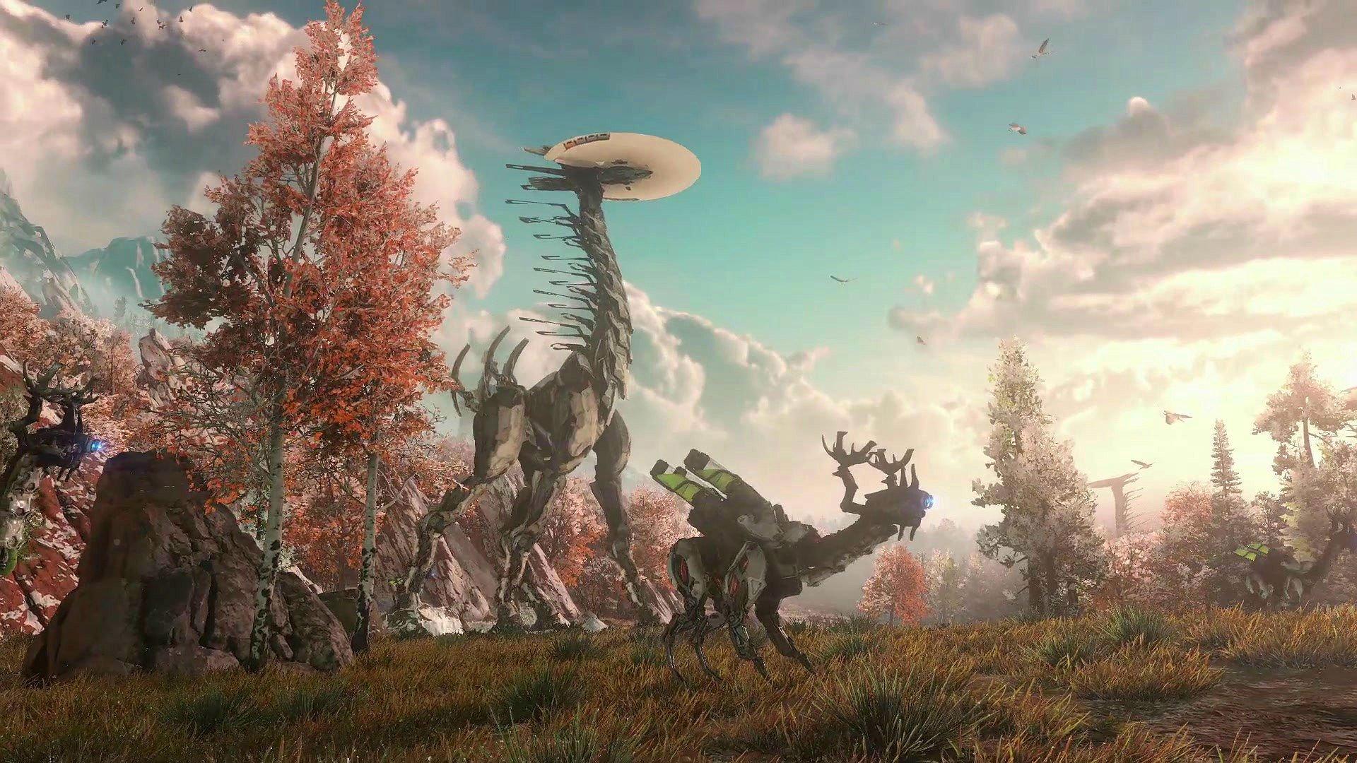 HORIZON ZERO DAWN sci-fi robot futuristic 1hzd archer fantasy ...