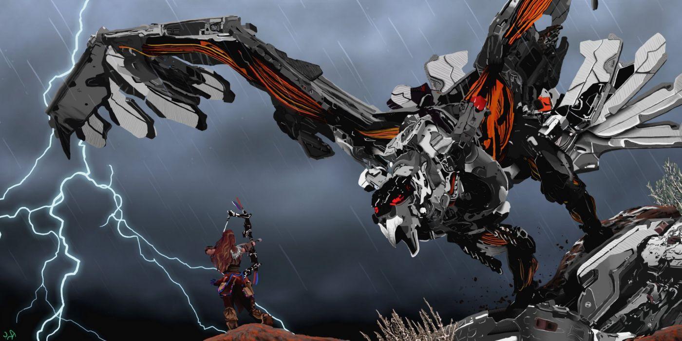 Horizon Zero Dawn Sci Fi Robot Futuristic 1hzd Archer Fantasy