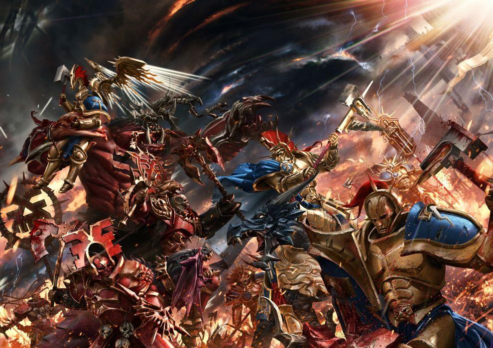 WARHAMMER tactical strategy fantasy sci-fi warrior 1tww battle dark 40k wallpaper