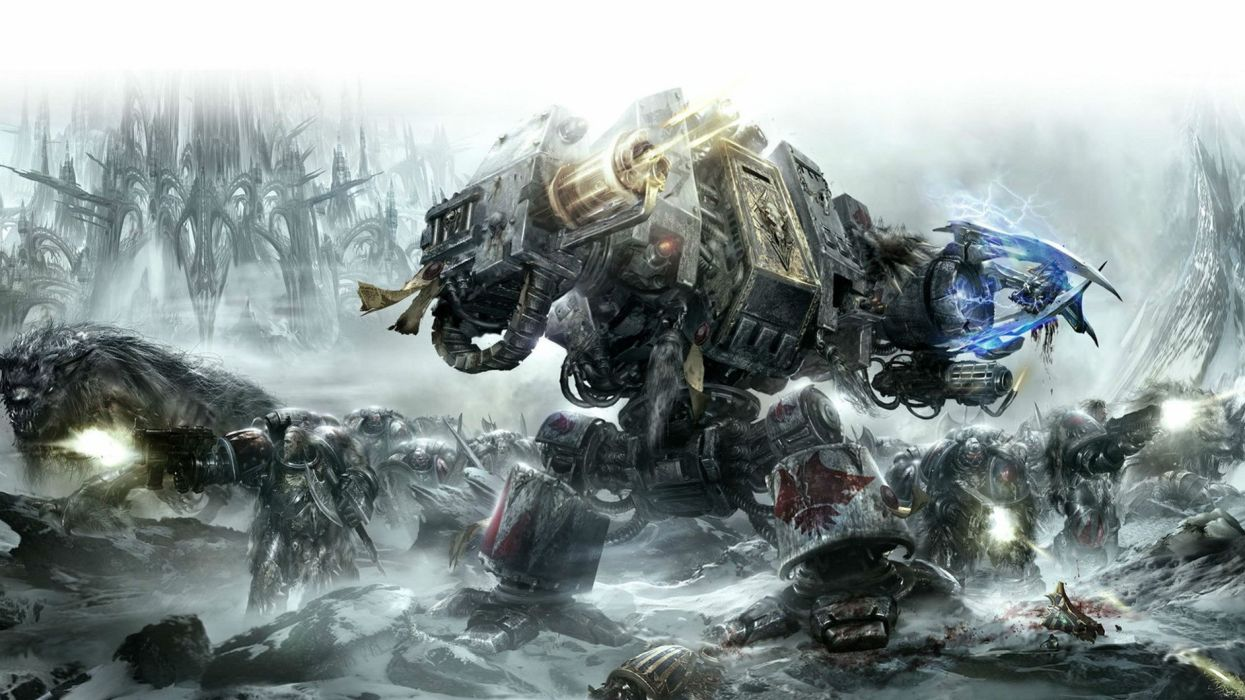 WARHAMMER tactical strategy fantasy sci-fi warrior battle dark 40k wallpaper