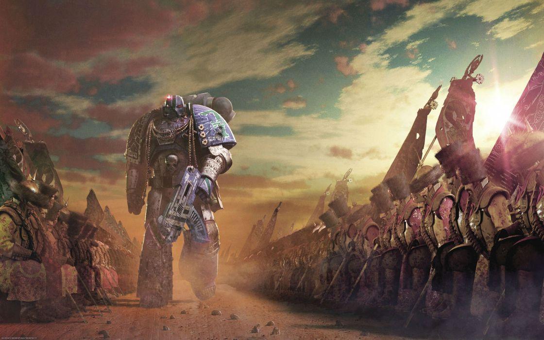 WARHAMMER tactical strategy fantasy sci-fi warrior battle dark 40k wallpaper