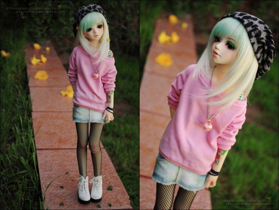 Beautiful Doll Toys Long Hair Dress Girl Wallpaper