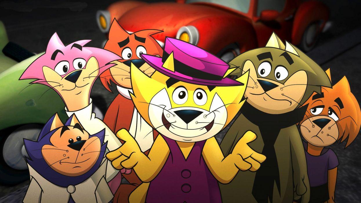 don gato familia dibujos animados wallpaper