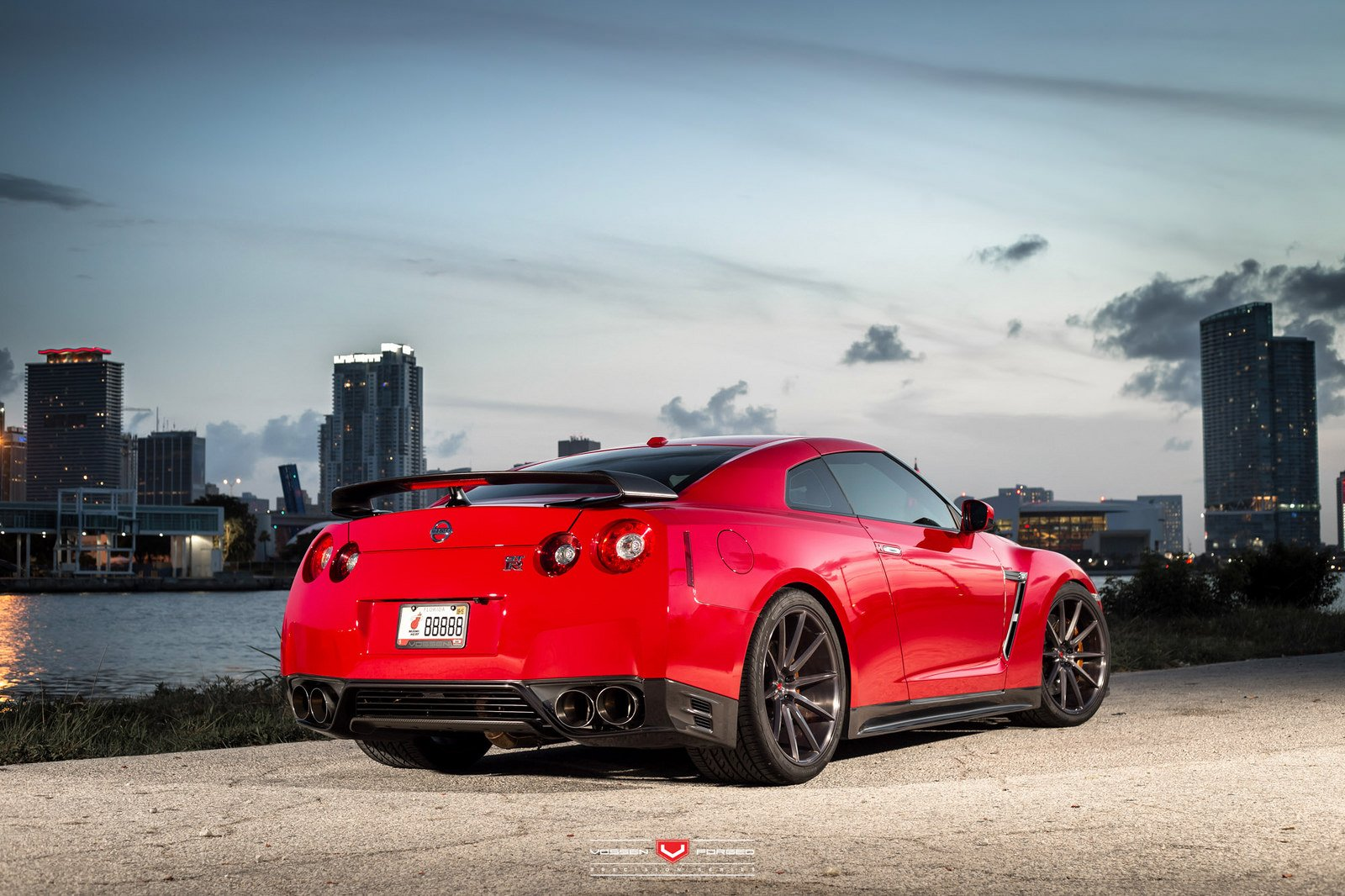 cars nissan red gtr - photo #24