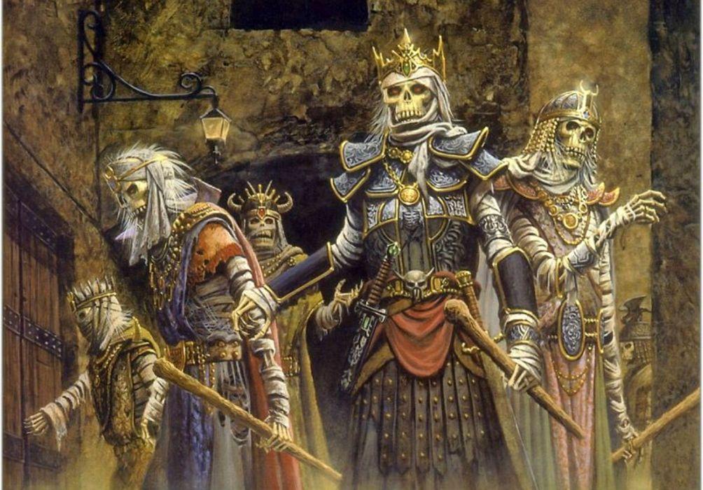 DUNGEONS DRAGONS Forgotten Realms magic rpg action adventure puzzle fantasy warrior skull skeleton wallpaper