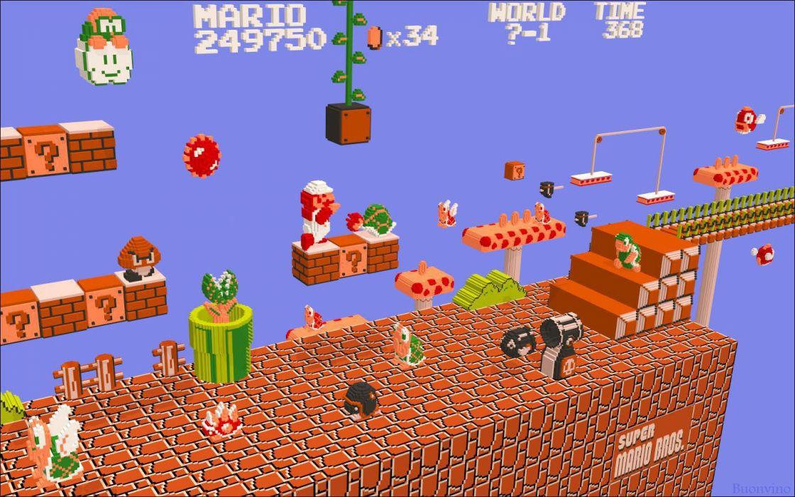video juego clasico mario bros wallpaper