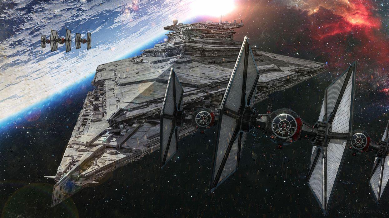 STAR WARS FORCE AWAKENS sci-fi futuristic disney 1star-wars-force-awakens action adventure spaceship wallpaper