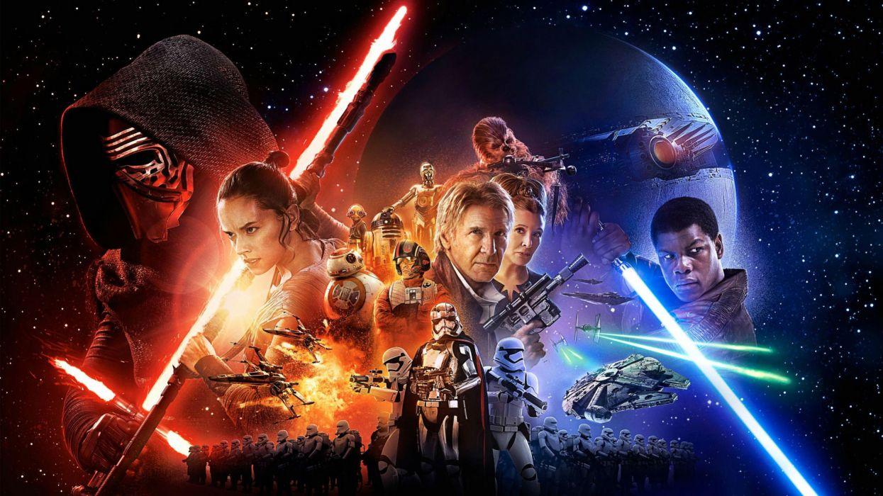 STAR WARS FORCE AWAKENS sci-fi futuristic disney 1star-wars-force-awakens action adventure wallpaper