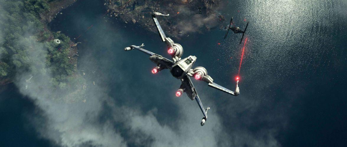 STAR WARS FORCE AWAKENS sci-fi futuristic disney 1star-wars-force-awakens action adventure spaceship battle wallpaper