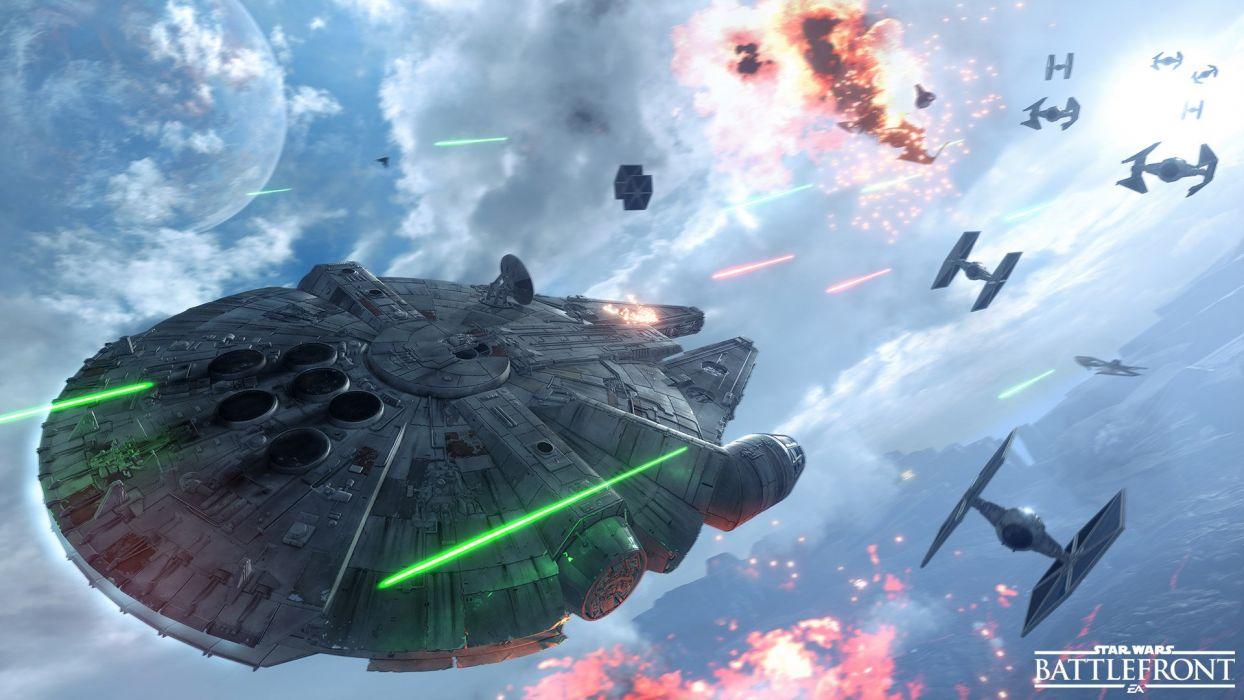Star Wars Battlefront Sci Fi 1swbattlefront Action Fighting Futuristic Shooter Poster Spaceship Battle Wallpaper 1920x1080 821818 Wallpaperup