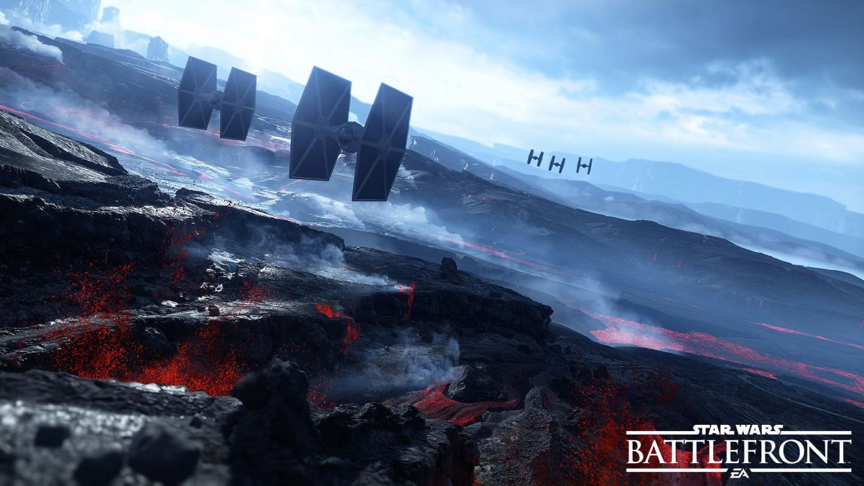 STAR WARS BATTLEFRONT sci-fi 1swbattlefront action fighting futuristic shooter spaceship poster wallpaper