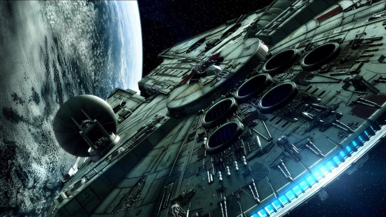 la guerra de las galaxias halcon milenario pelicula ciencia ficcion wallpaper
