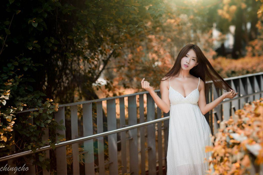 women woman female model girl girls mood oriental asian wallpaper