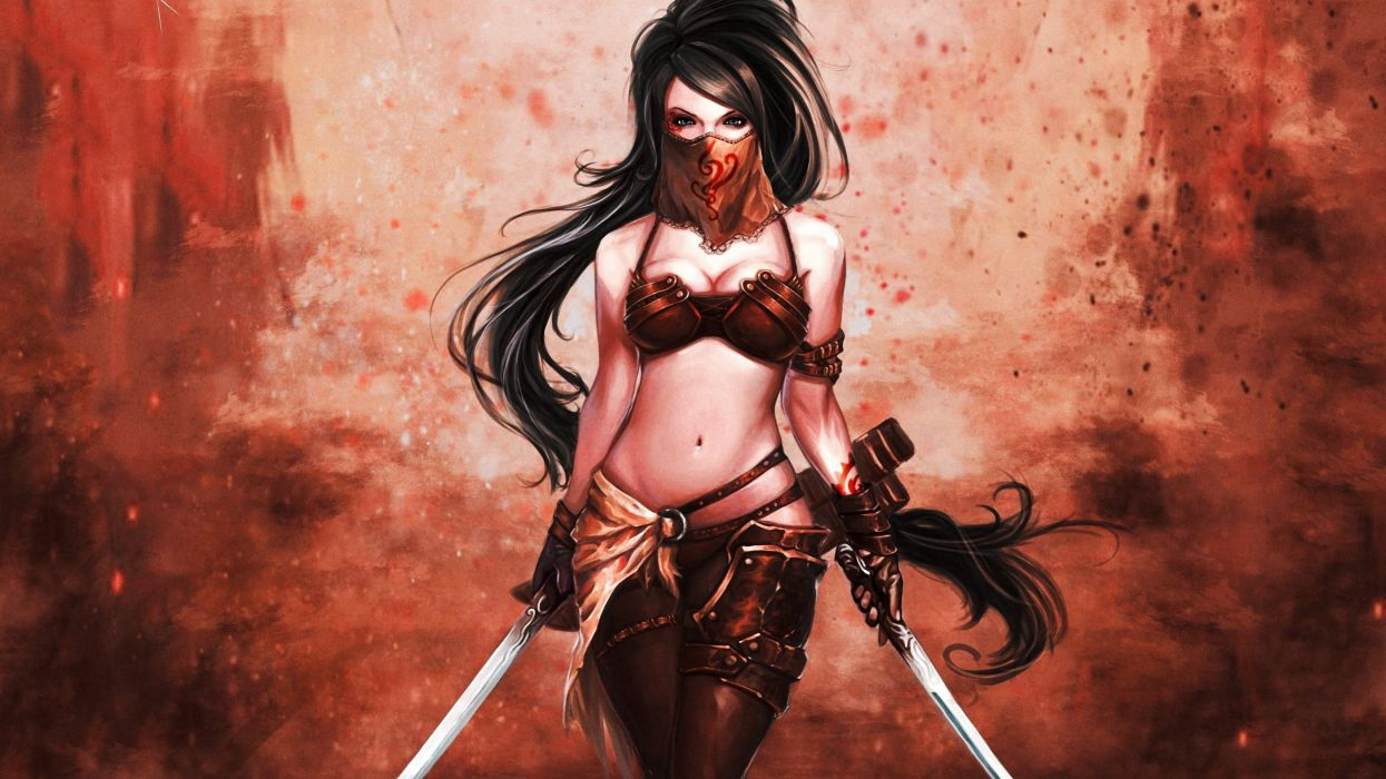 Fantasy Art Women Model Wallpapers Hd Desktop And: Fantasy Artwork Art Women Girl Girls Female Warrior