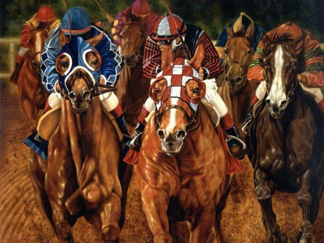 HORSE RACING race equestrian sport jockey horses wallpaper