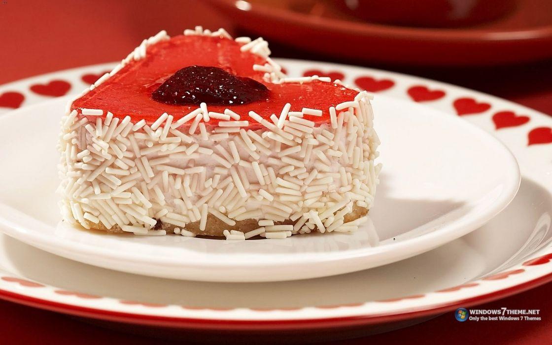 food cake heart Strawberry wallpaper