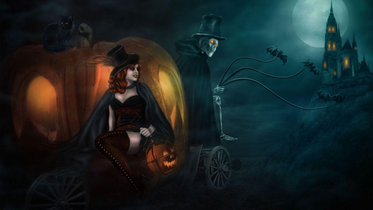 bruja zombie cementerio halloween wallpaper