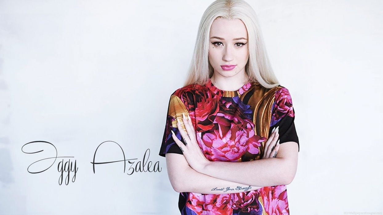 IGGY AZALEA hip hop electronic rap rapper blonde babe girl girls women woman female singer poster wallpaper