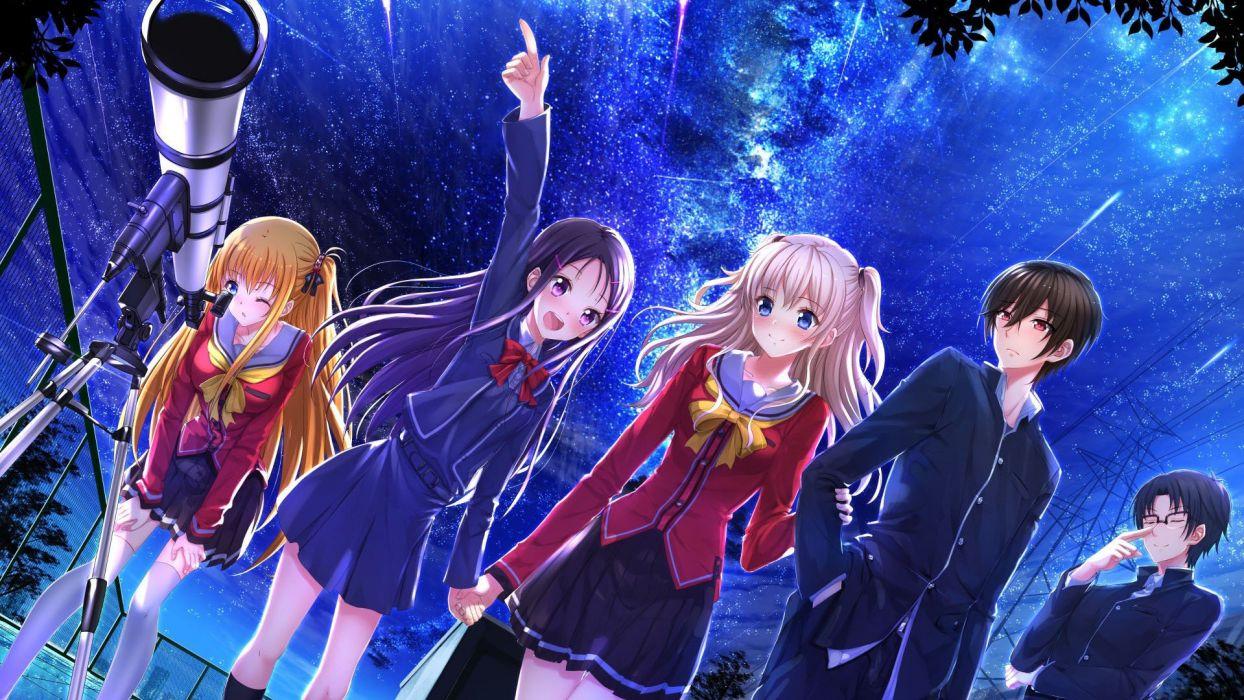 Anime Girl Boys Girls School Uniform Group Wallpaper 1920x1080 827283 Wallpaperup