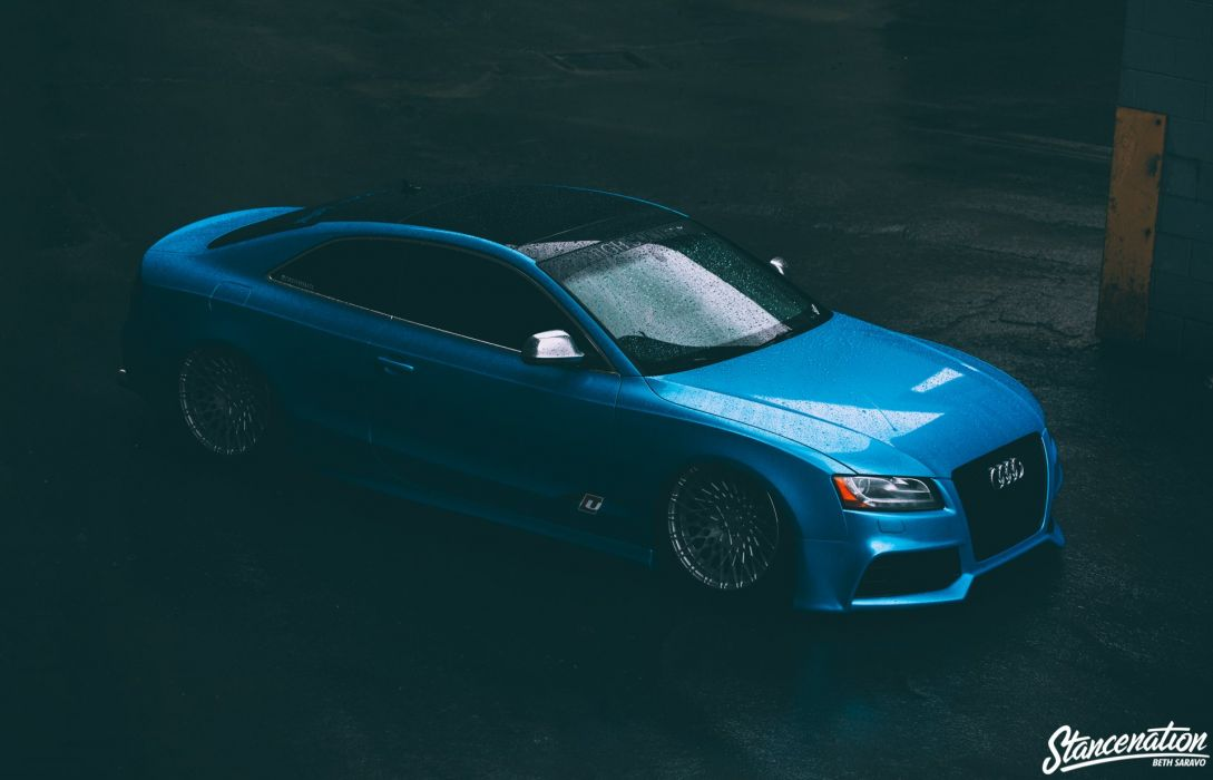 AUDI-S5 REIGER blue modified cars coupe wallpaper