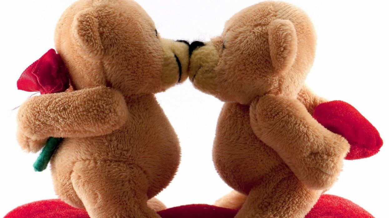 osos peluches besos amor wallpaper