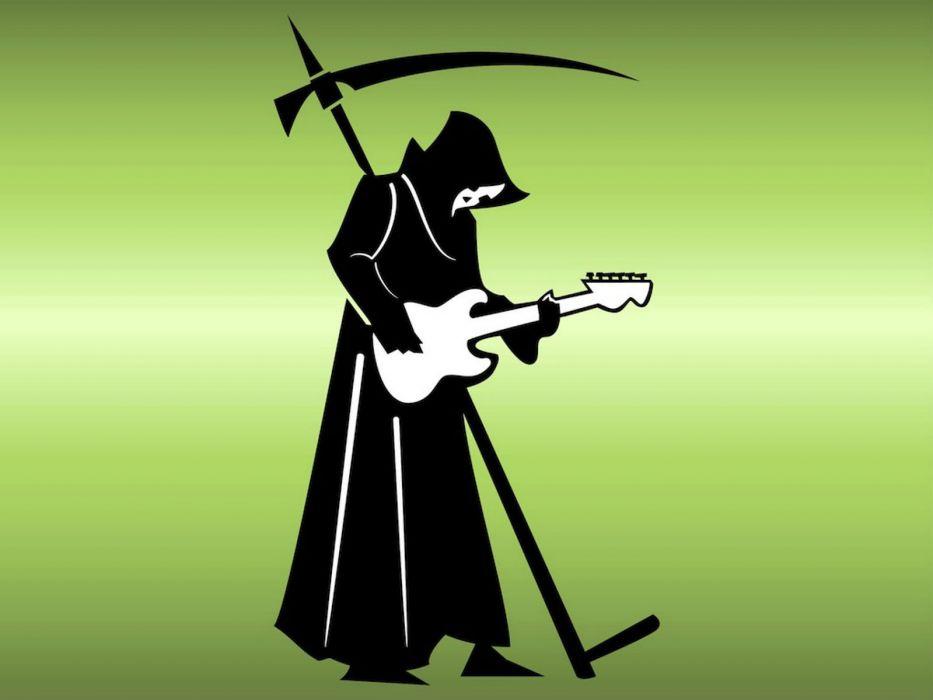 DEATH METAL heavy dark evil horror poster reaper guitar wallpaper