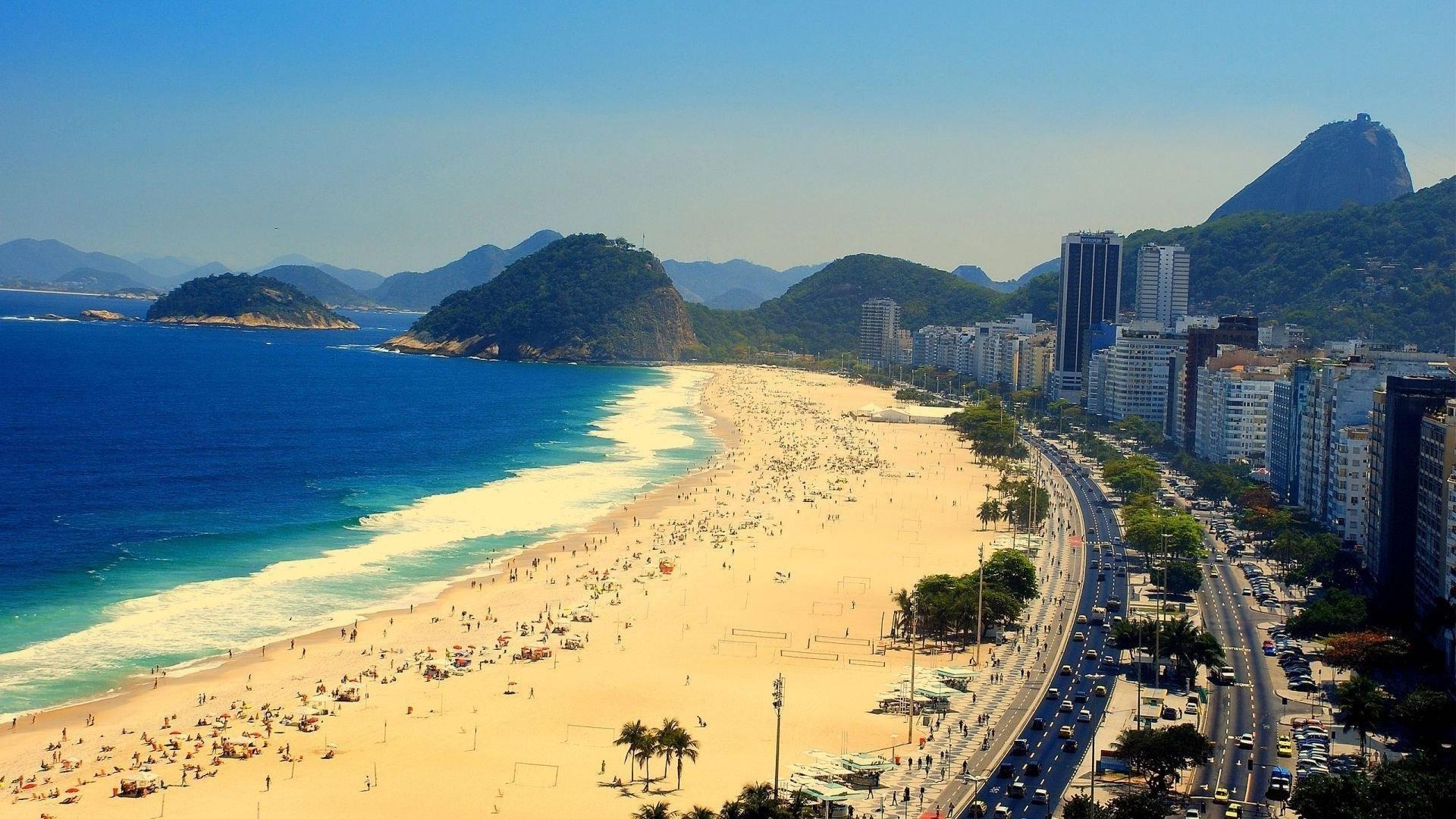 Playa Copacabana Brasil Rio Janeiro Oceano Wallpaper