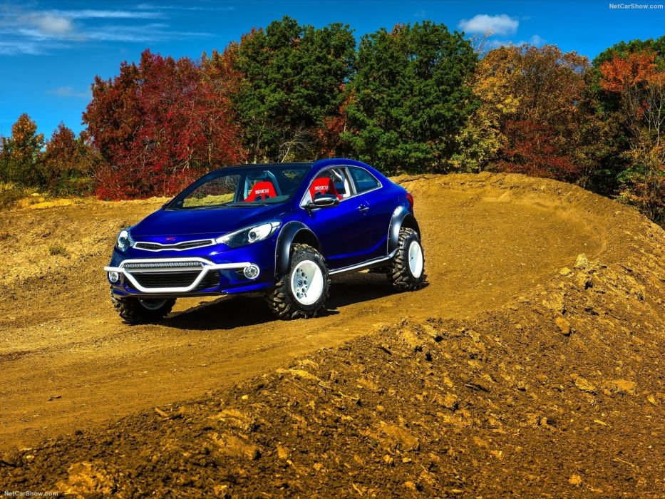 Kia Forte Koup Mud Bogger Cars Concept Sema 2015 Wallpaper