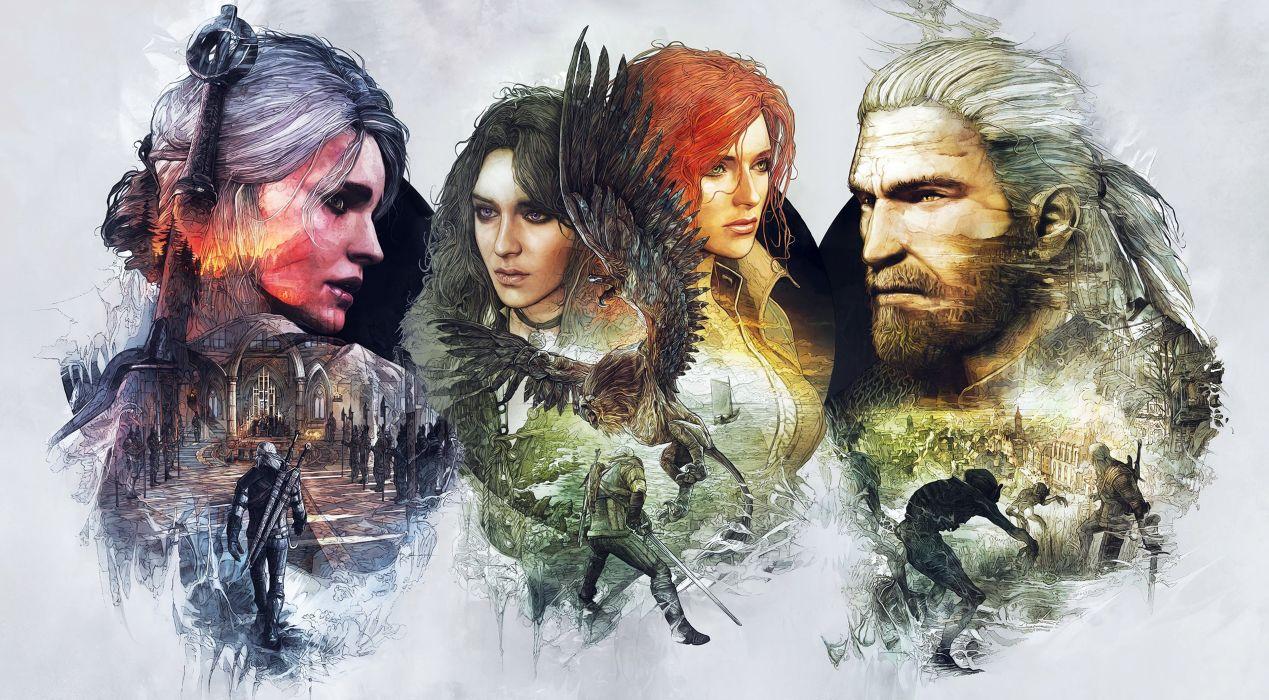 WITCHER 3 WILD HUNT fantasy action fighting warrior dark wallpaper