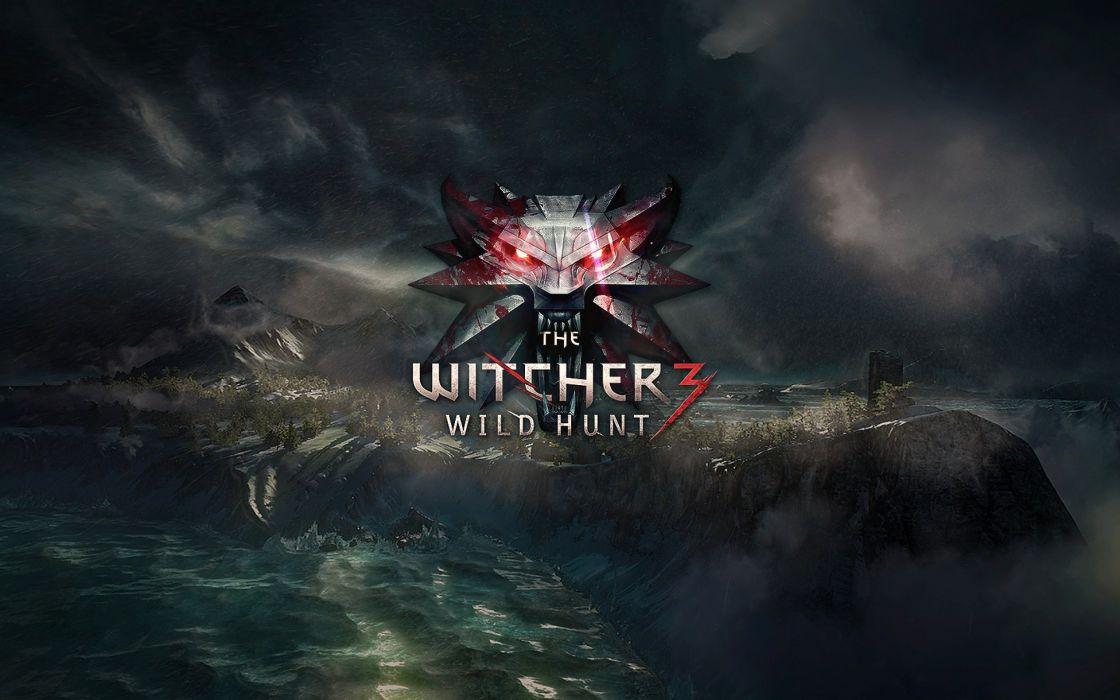 WITCHER 3 WILD HUNT fantasy action fighting warrior dark poster wallpaper