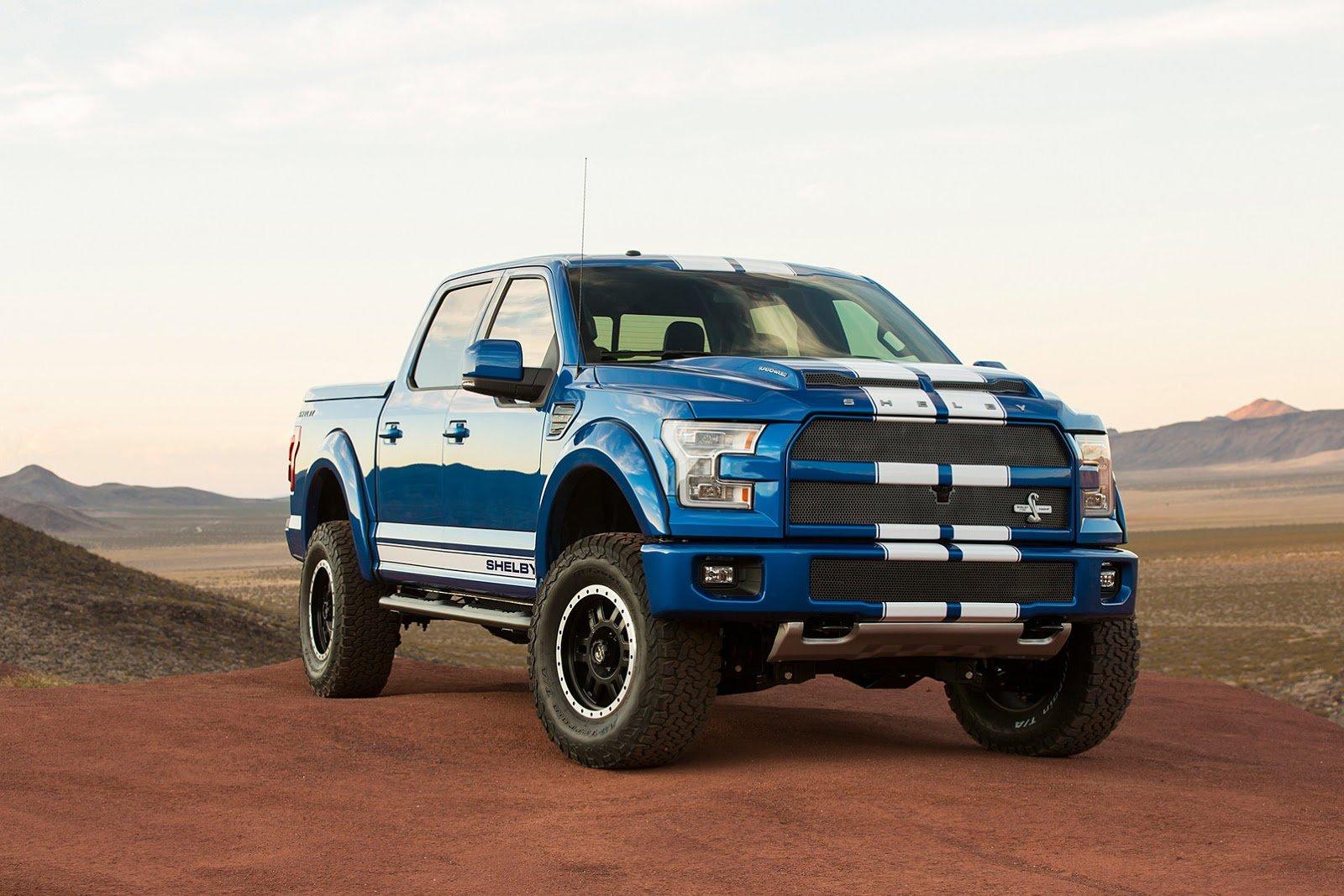Shelby The Blue Thunder SEMA 2015 F 150 Truck Ford Pickup Wallpaper