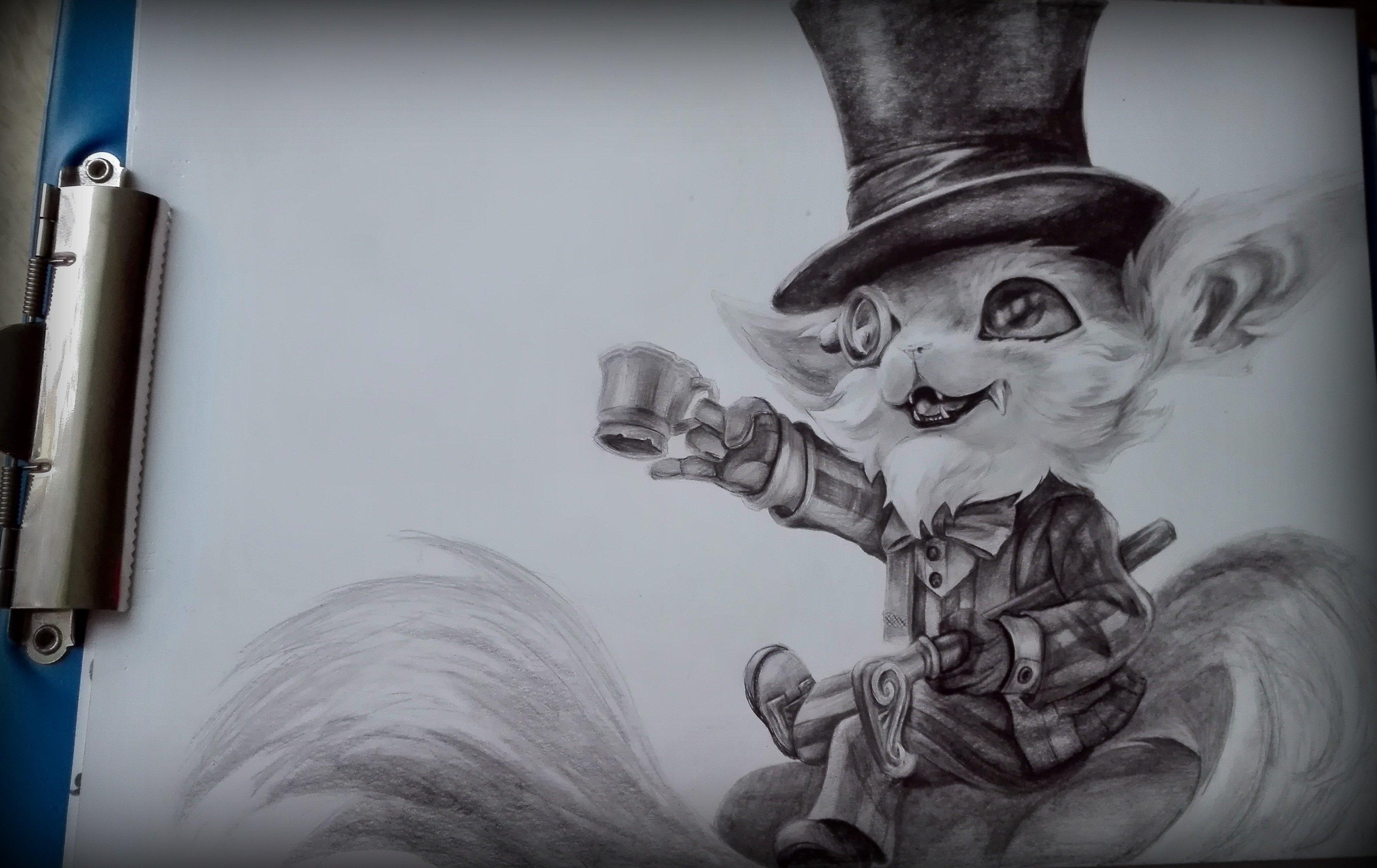 Gentlemen Gnar Art By Elo Wojtku League Of Legends Wallpaper