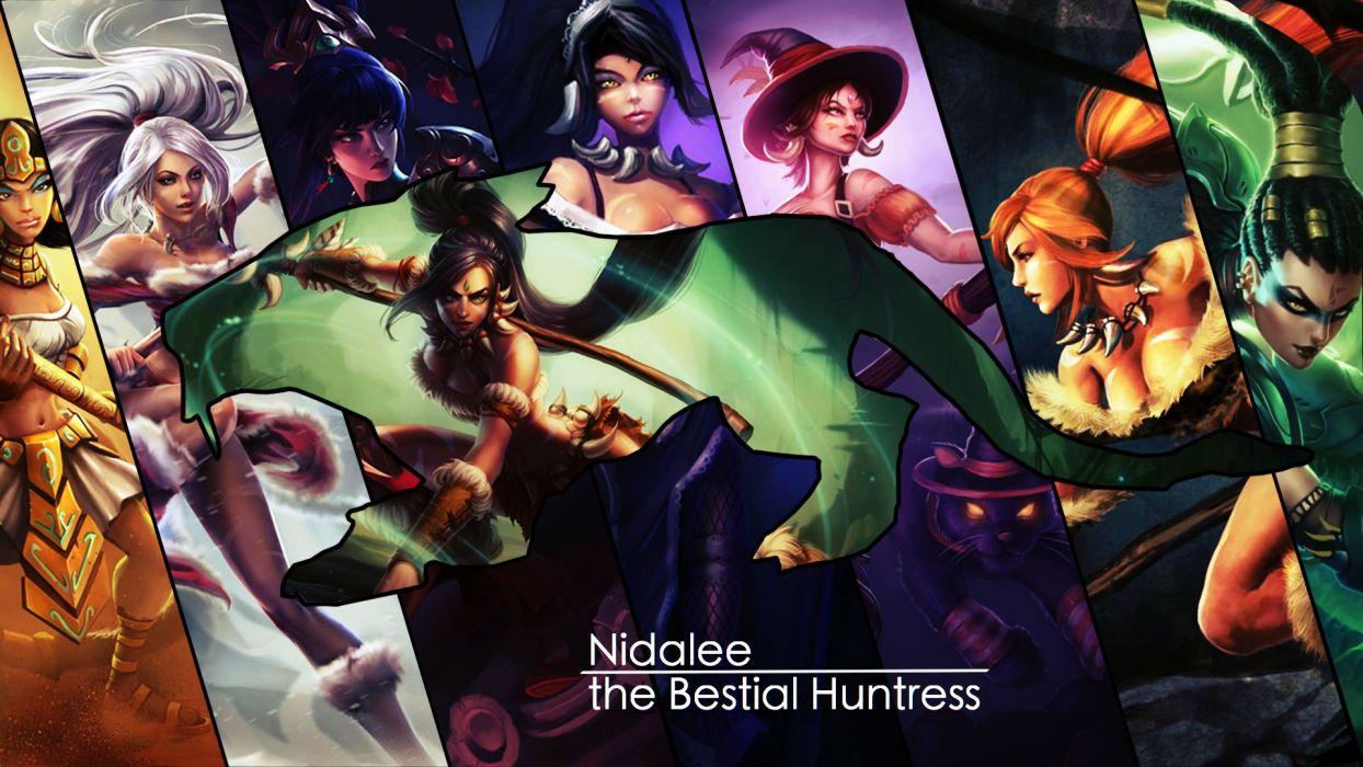 Nidalee The Bestial Huntress Wallpaper League Of Legends