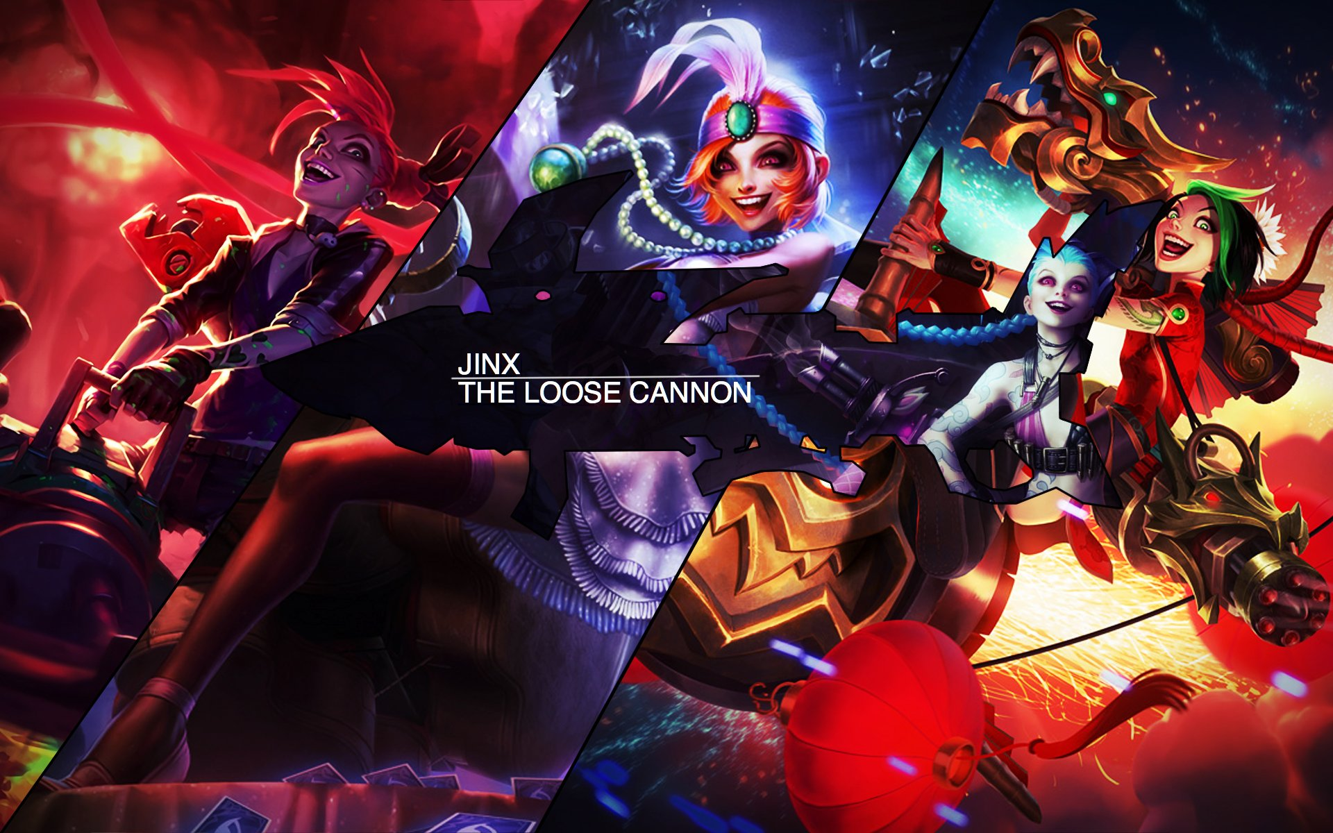 jinx the loose cannon wallpaper - league of legends wallpaper