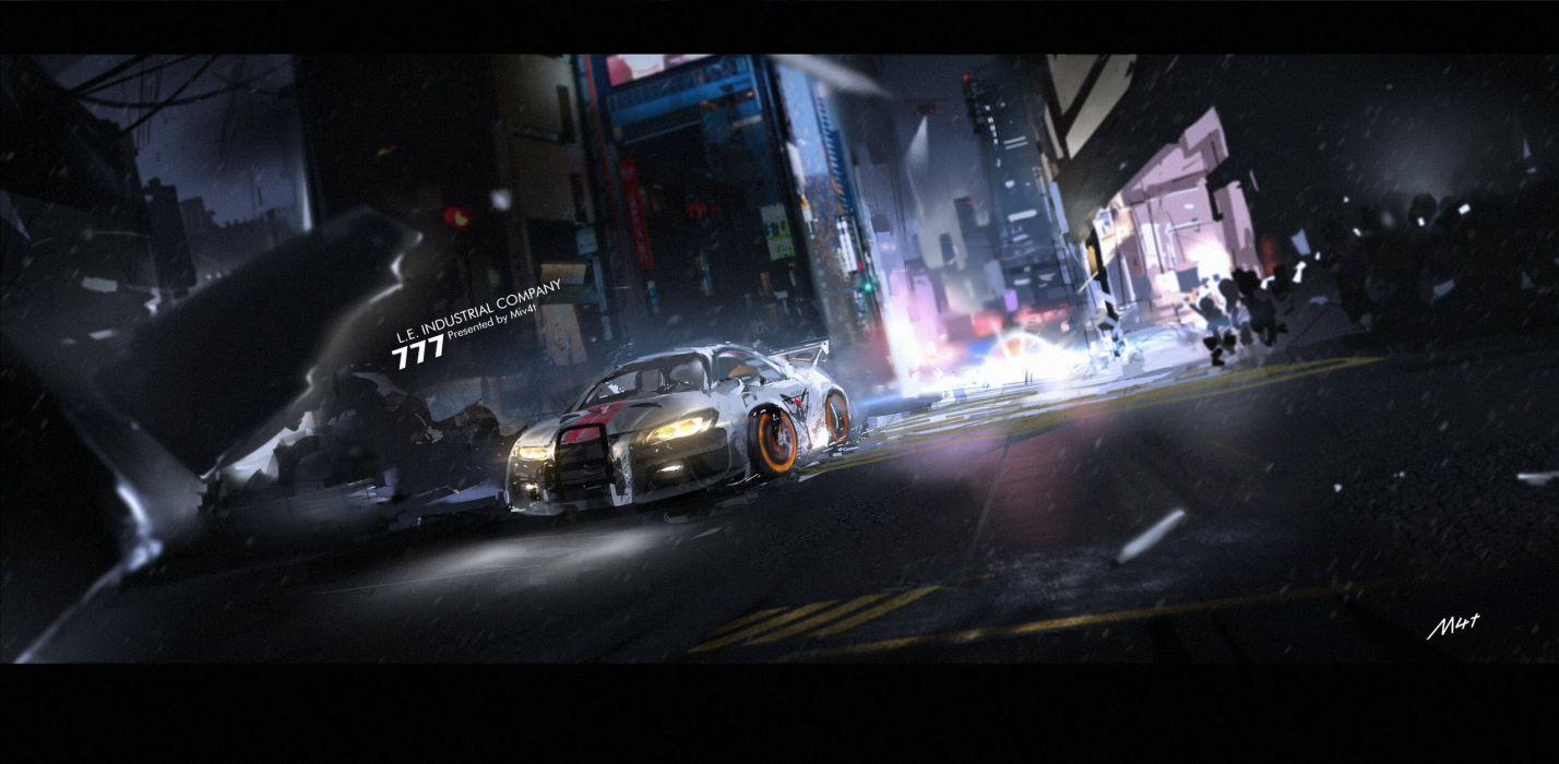 car city dark mivit night nobody original wallpaper