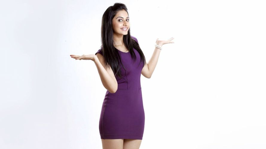 Rakul Preet Singh bollywood actress model girl beautiful brunette pretty cute beauty sexy hot pose face eyes hair lips smile figure indian wallpaper