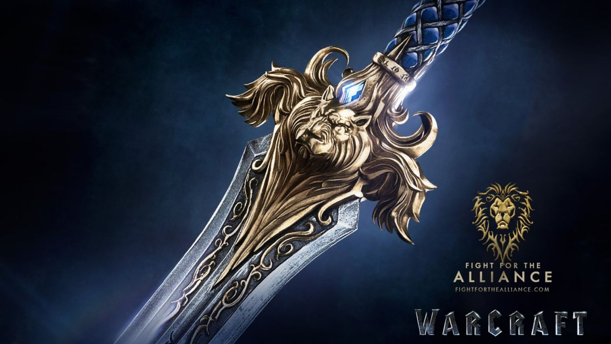WARCRAFT Beginning fantasy action fighting warrior adventure world 1wcraft poster sword wallpaper