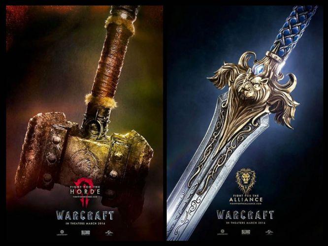 WARCRAFT Beginning fantasy action fighting warrior adventure world 1wcraft poster sword weapon wallpaper